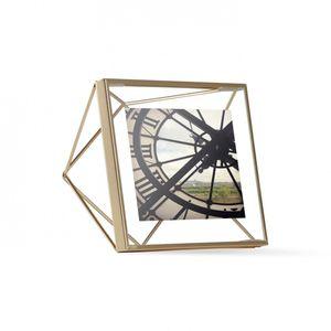 Porta-retrato-Umbra-Prisma-4x4cm-dourado