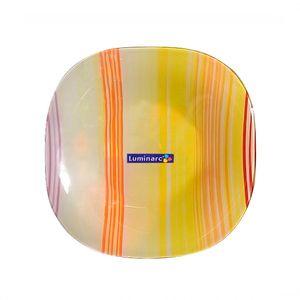 Prato-fundo-orange-Luminarc-Stripes