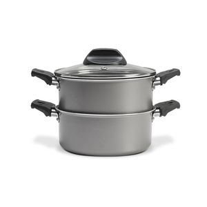 Panela-cozi-vapore-com-tampa-Brinox-145-litros-prata