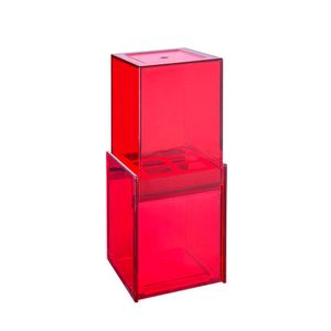 Porta-escova-e-creme-dental-com-tampa-Brinox-vermelha