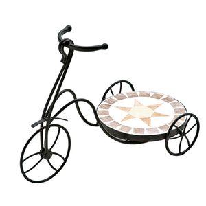 Floreira-de-ferro-estilo-mosaico-estrela-redonda-Bicicleta-Btc-44x21x31cm