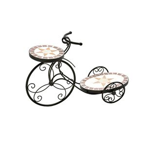 Floreira-de-ferro-estilo-mosaico-duplo-estrela-Btc-Bicicleta-58x19x39cm