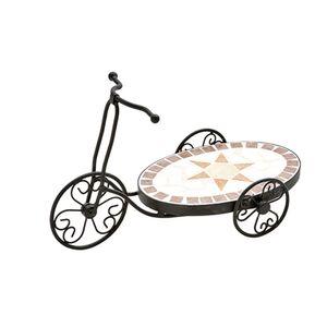 Floreira-de-ferro-estilo-mosaico-estrela-oval-Btc-Bicicleta-44x19x26cm