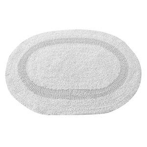Tapete-oval-Domani-Solid-Plain-45x65cm-branco