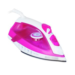Ferro-de-passar-a-vapor-Black---Decker-rosa-220v