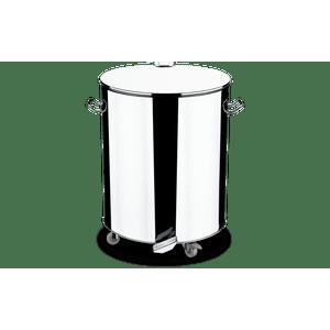 Lixeira-Inox-com-Rodizio-e-Pedal-Abre-e-Fecha-110-Litros---Decorline-Lixeiras-Ø-51-x-61-x-67-cm