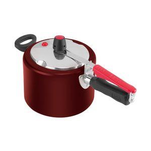 Panela-de-pressao-com-tampa-polida-Clock-Original-45-litros-vermelha