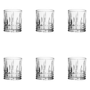 Jogo-de-copos-de-vidro-para-whisky-L-Hermitage-Tartan-6-pecas-300ml