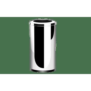 Lixeira-Inox-com-Aro-64-Litros---Decorline-Lixeiras-Ø-35-x-70-cm