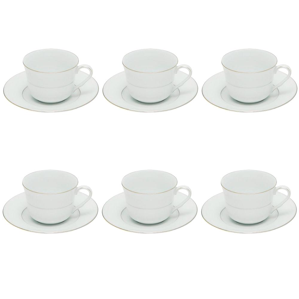 Jogo de xícaras para chá Noritake 6 peças
