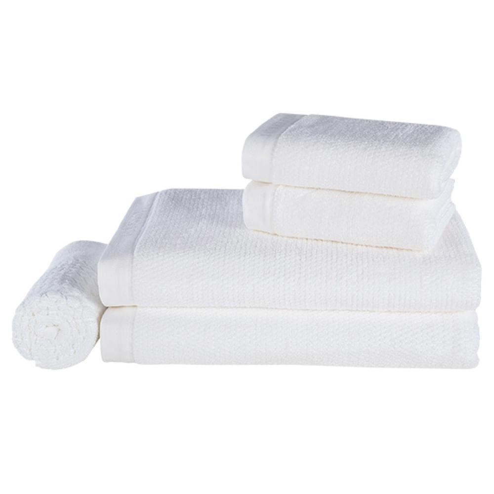 Jogo de toalhas Trussardi maggiore 5 peças branco