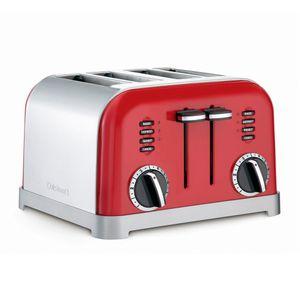 Torradeira-Cuisinat-Red-Metalic-