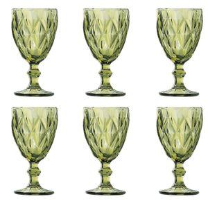 Jogo-de-tacas-para-agua-6-pecas-Lyor-Diamond-260-ml-verde