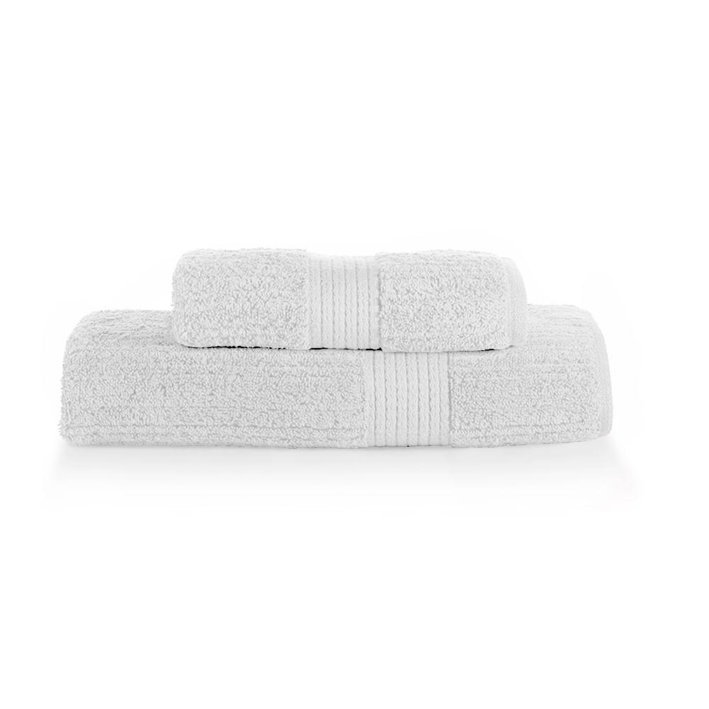 Jogo de toalha Buddemeyer Fio Penteado 2 peças branca