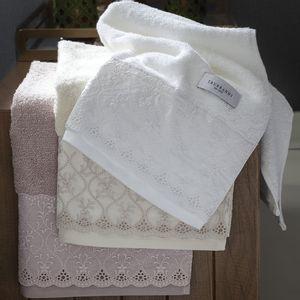 Toalha-de-lavabo-Trussardi-Imperiale-Barrado-marfim