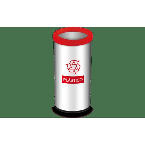 Lixeira-Seletiva-com-Aro-e-Adesivo-Vermelho-405-Litros---Decorline-Lixeiras-Ø-30-x-60-cm