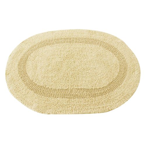 Tapete-oval-Domani-Solid-Plain-45x65cm-areia