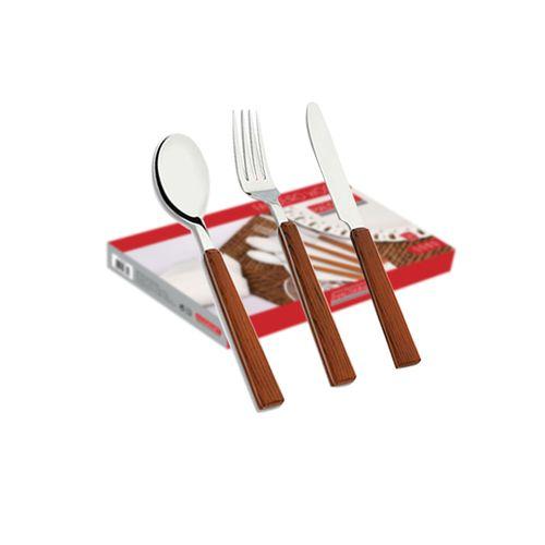 Faqueiro-em-inox-com-cabo-decorado-Hauskraft-Wood-16-pecas
