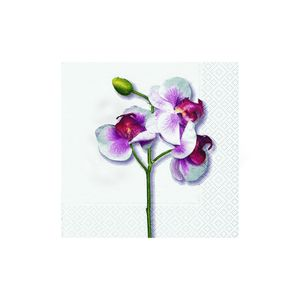 Guardanapos-Hudson-Classic-Orchid-White-20-unidades