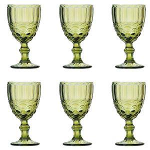 Jogo-de-tacas-para-vinho-Lyor-Libelula-6-pecas-210ml-verde