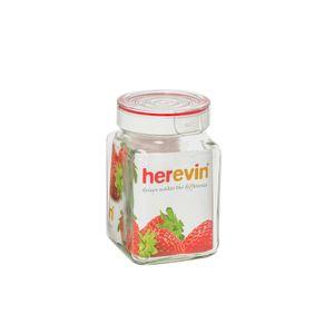 Pote-de-vidro-quadrado-Lyor-com-tampa-vermelha-1-litro-transparente