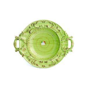 Prato-de-ceramica-redondo-com-alcas-Carbo-Import-53x43cm-verde