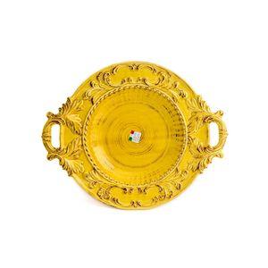 Prato-de-ceramica-redondo-com-alcas-Carbo-Import-53x43cm-amarelo