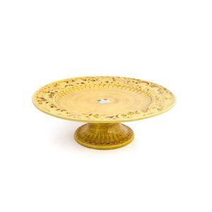 Boleira-e-doceira-de-ceramica-Carbo-Import-12x40cm-amarela