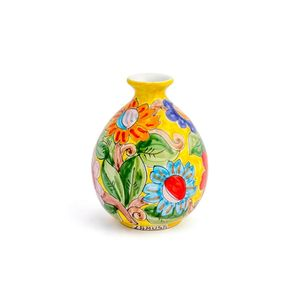 Vaso-bola-de-ceramica-pequeno-Carbo-Import-17x20cm-amarelo