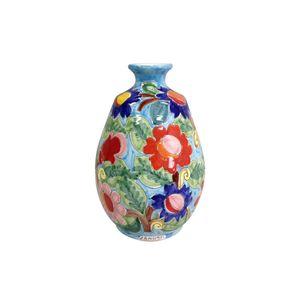 Vaso-oval-com-flores-em-ceramica-Carb-Import-25x39cm-turquesa