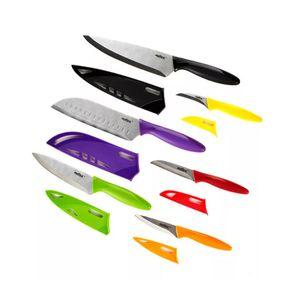Jogo-de-facas-de-aco-inox-com-capa-Zyliss-12-pecas-coloridas