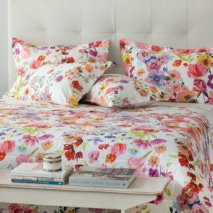 Colcha-com-porta-travesseiro-Buddemeyer-Flowers-Blue