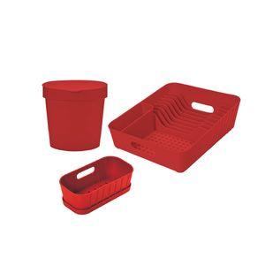 Jogo-para-cozinha-Dehaus-3-pecas-vermelho