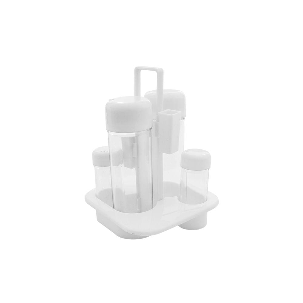 Galheteiro Imporiente 5 peças branco