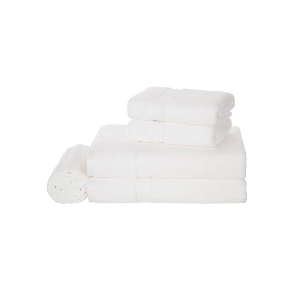 Jogo de banho Trussardi Doppia 5 peças branco