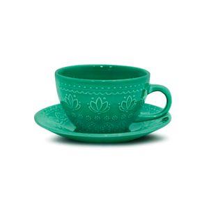 Xicara-de-cha-de-ceramica-com-pires-Yoi-Corona-Relieve-270ml-green