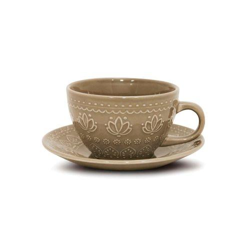 Xicara-de-ceramica-com-pires-Yoi-Corona-Relieve-270ml-cinza