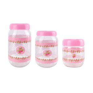 Jogo-de-potes-de-vidro-Casambiente-3-pecas-rosa