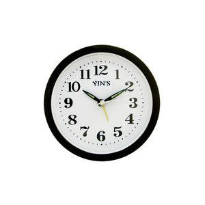 Relogio-de-mesa-com-despertador-redondo-Casita-12x12cm-preto