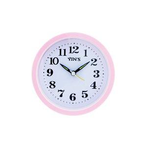 Relogio-de-mesa-com-despertador-redondo-Casita-12x12cm-rosa