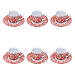 Jogo-de-xicaras-para-cafe-em-porcelana-Bon-Gourmet-Mosaic-6-pecas-90ml