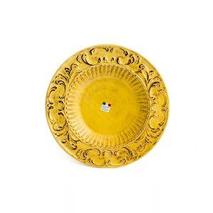 Prato-redondo-de-ceramica-Carbo-Import-43cm-amarelo