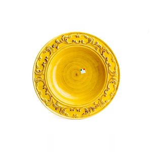 Prato-Paeja-de-ceramica-Carbo-Import-60cm-amarelo