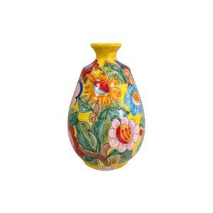 Vaso-oval-com-flores-em-ceramica-Carbo-Import-25x39cm-amarelo