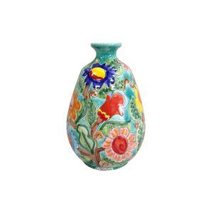 Vaso-oval-com-flores-em-ceramica-Carbo-Import-25x39cm-verde