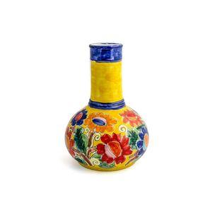 Vaso-genie-com-flores-em-ceramica-Carbo-Import-27x40cm-amarelo
