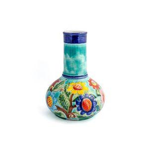 Vaso-genie-com-flores-em-ceramica-Carbo-Import-27x40cm-verde