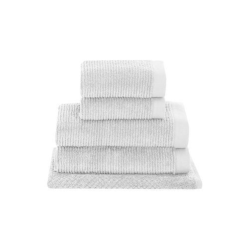 Jogo-de-toalhas-Buddemeyer-Dual-Rib-5-pecas-branco
