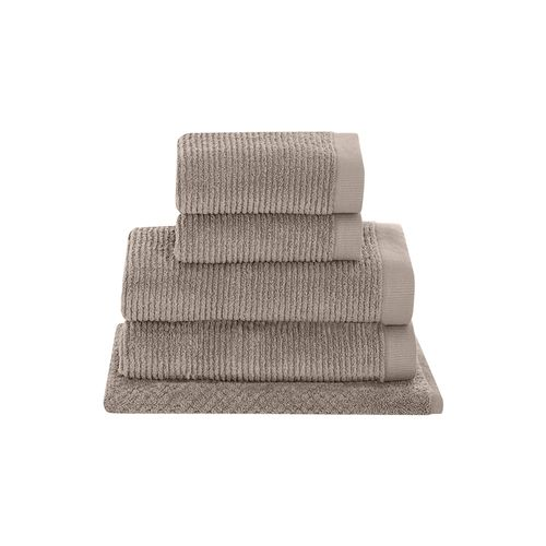 Jogo-de-toalhas-Buddemeyer-Dual-Rib-5-pecas-kaki