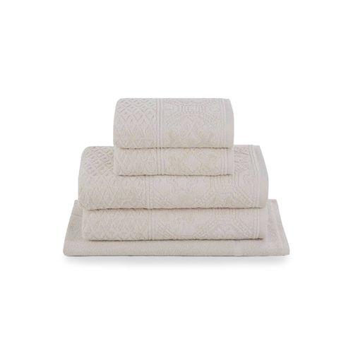 Jogo-de-toalhas-Buddemeyer-Vilas-boas-5-pecas-bege